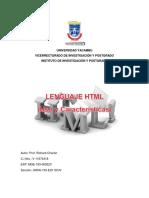 El Lenguaje de Programación HTML