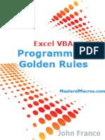 Excel VBA Programming Golden Rules