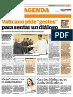 """Vaticano pide """"gestos"""" para sentar un diálogo"""