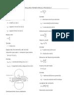 Formulario Primer Parcial Procesos II