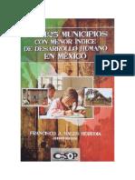 Los municipios con menor IDH en México