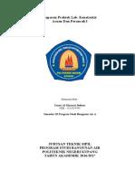 Laporan Praktikum Lab. Konstruksi Acuan dan Perancah 1 Politeknik Negeri Kupang