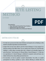 Attribute Listing Method