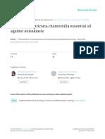 Activity of Matricaria Chamomilla Essential Oil Against Anisakiasis