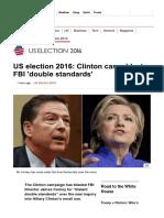 US Election 2016_ Clinton Camp Blasts FBI 'Double Standards' - BBC News