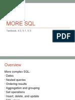 Lecture4 More SQL