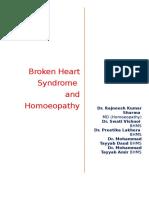 Broken Heart Syndrome (Stress Cardiomyopathy) and Homoeopathy