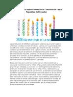 Derechos de los adolescentes en la Constitución  de la República del Ecuador