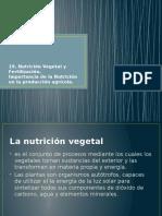19. Nutrición Vegetal y Fertilización.