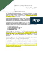 """Resumen """"Introducción a las Relaciones Internacionales"""", Celestino Del Arenal"""