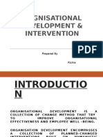 Intervention of Organisational development
