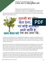 तुलसी का पौधा बता देगा, आप पर कोई मुसीबत आने वाली है - आयुर्वेद हीलिंग.pdf