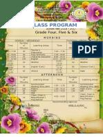 class program 4 5 & 6