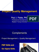 Project Quality Management x