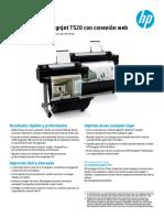 Impresora HP Designjet T520 con conexión web