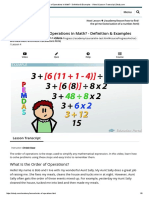 What is the Order of Operations in Math_ - Definition & Examples - Video & Lesson Transcript _ Study
