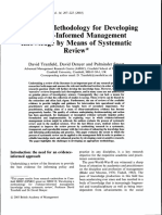 Tranfield Et Al Towards a Methodology for Developing Evidence Informed Management