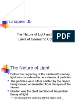 The Nature of Light the Laws of Geometric Optics