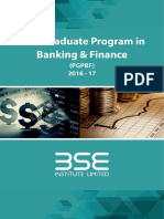 Post Graduate Program in Banking & Finance at BSE Institute Ltd. - 2016-17