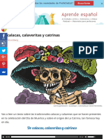 De calacas, calaveritas y catrinas | ProfeDeELE.es