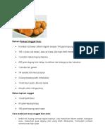 Bahan Resep Nugget Ikan
