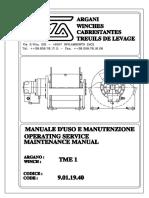 TME1 Uso e Manutenzione