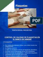 Control de calidad en plaquetas del banco de sangre