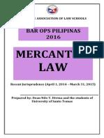 Recent Jurisprudence in Mercantile Law
