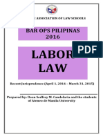 Recent Jurisprudence in Labor Law