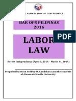 Recent Jurisprudence in Labor Law