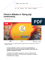 China's Alibaba in 'Flying Pig' Controversy - BBC News