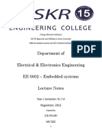 Embedded Systems Notes
