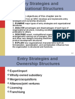 SChapter 9-Entry Strategies and Organizational Structures