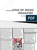 Analysis of Music Magazine