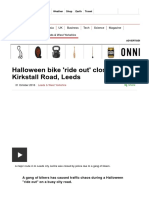 Halloween Bike 'Ride Out' Closes Kirkstall Road, Leeds - BBC News