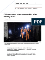 Chinese Coal Mine Rescue Bid After Deadly Blast - BBC News