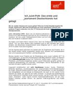 +++ Pressemeldung - Coffee to Go mit Juist-Pott- Das erste und einzige Gästeparlament Deutschlands hat getagt +++