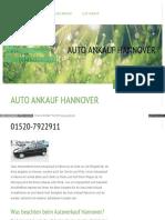 Autoankauf Niedersachsen