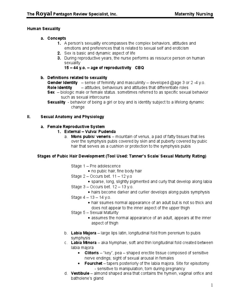 13730674 Maternity Nursing Edited Royal Pentagon   Menstrual Cycle ...