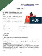 BOP Test Stump