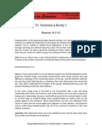 Romans Bible Study 31