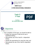 Topic 5 - T-Test
