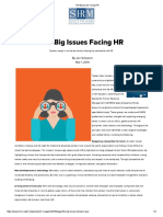 The Big Issues Facing HR