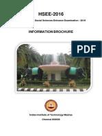 Information Brochure HSEE-2016