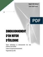 Dimensionnement d Un Rotor d Eolienne