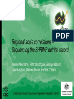Regional scale correlations –Sequencing the SHRIMP detrital record