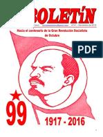Boletin del Ateneo Paz y Socialismo de noviembre de 2016