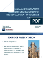 2014.05.22. Interventions Required for the Development of the Gas Sector in Nigeria