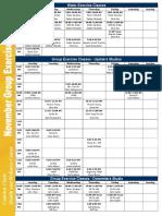November 2016 Class Schedule (1)