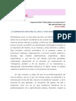 La Administración Pública, arte o funcionalismo- Mtro. Marcelino Núñez Trejo